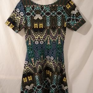 One Clothing mini dress, multicolored, fun!